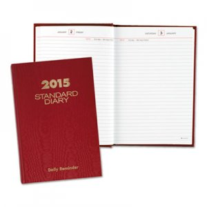 At-A-Glance AAGSD38913 Standard Diary Recycled Daily Reminder, Red, 5 3/4 x 8 1/4, 2016 SD389-13