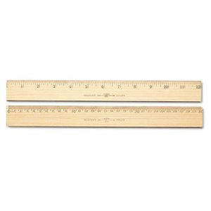 "Westcott 10375 Wood Ruler, Metric and 1/16"" Scale with Single Metal Edge, 30 cm ACM10375"