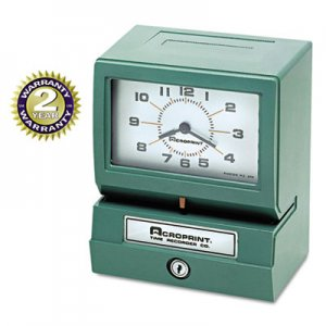 Acroprint ACP012070411 Model 150 Analog Automatic Print Time Clock with Month/Date/1-12 Hours/Minutes 01-2070-411
