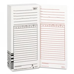 Acroprint ACP099111000 Time Card for Es1000 Electronic Totalizing Payroll Recorder, 100/Pack 09-9111-000