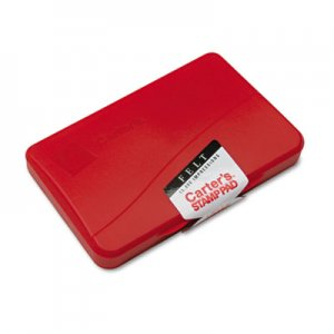 Carter's 21071 Felt Stamp Pad, 4 1/4 x 2 3/4, Red AVE21071