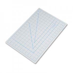"X-ACTO X7761 Self-Healing Cutting Mat, Nonslip Bottom, 1"" Grid, 12 x 18, Gray EPIX7761"
