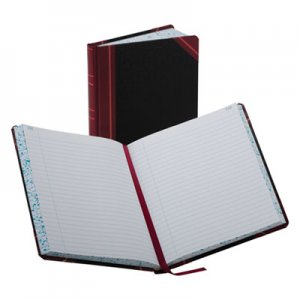 Boorum & Pease BOR38300R Record/Account Book, Record Rule, Black/Red, 300 Pages, 9 5/8 x 7 5/8 38