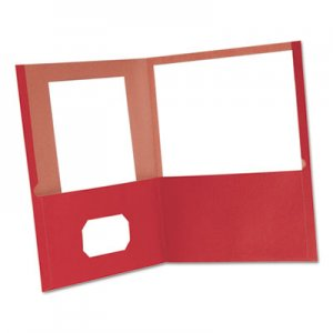 Oxford 78511 Earthwise 100% Recycled Paper Twin-Pocket Portfolio, Red OXF78511