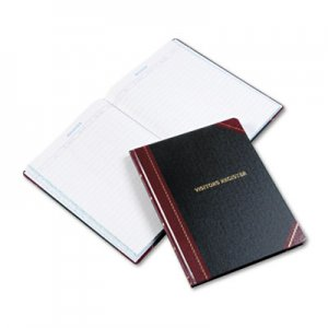 Boorum & Pease 806 Visitor Register Book, Black/Red Hardcover, 150 Pages, 10 7/8 x 14 1/8 BOR806