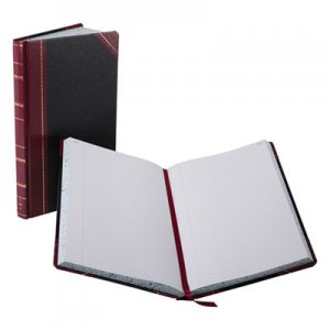 Boorum & Pease BOR9300R Record/Account Book, Black/Red Cover, 300 Pages, 14 1/8 x 8 5/8 9-300