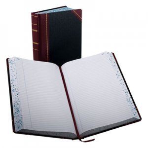 Boorum & Pease BOR9500R Record/Account Book, Record Rule, Black/Red, 500 Pages, 14 1/8 x 8 5/8 9