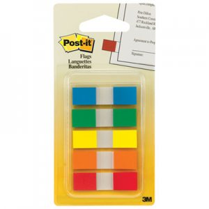 Post-it Flags MMM6835CF Page Flags in Portable Dispenser, 5 Standard Colors, 20 Flags/Color 683-5CF