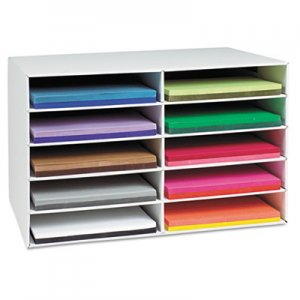 Pacon 001316 Classroom Construction Paper Storage, 10 Slots, 26 7/8 x 16 7/8 x 18 1/2 PAC001316
