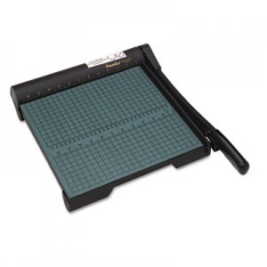 "Premier W12 The Original Green Paper Trimmer, 20 Sheets, Wood Base, 12 1/2""x 12 PREW12"