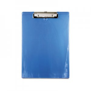"Saunders 00439 Plastic Clipboard, 1/2"" Capacity, Holds 8 1/2w x 12h, Ice Blue SAU00439"