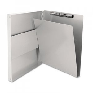 "Saunders 10517 Snapak Aluminum Forms Folder, 1/2"" Capacity, Holds 8-1/2w x 12h, Silver SAU10517"