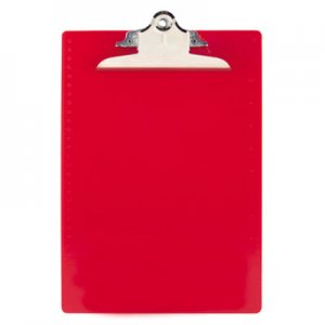 "Saunders 21601 Recycled Plastic Clipboards, 1"" Capacity, Holds 8 1/2w x 12h, Red SAU21601"