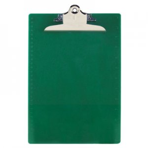 "Saunders 21604 Recycled Plastic Clipboards, 1"" Capacity, Holds 8 1/2w x 12h, Green SAU21604"