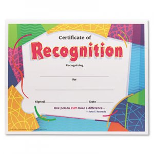 TREND T2965 Certificate of Recognition Awards, 8-1/2 x 11, 30/Pack TEPT2965