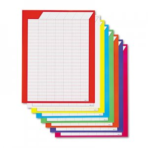 TREND T73901 Vertical Incentive Chart Pack, 22w x 28h, 8 Assorted Colors, 8/Pack TEPT73901