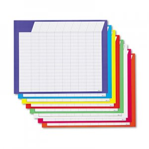 TREND T73902 Horizontal Incentive Chart Pack, 28w x 22h, Assorted Colors, 8/Pack TEPT73902