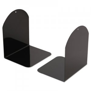 Genpak UNV54071 Magnetic Bookends, 6 x 5 x 7, Metal, Black