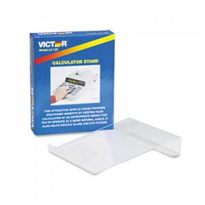 Victor VCTLS125 Large Angled Acrylic Calculator Stand, 9 x 11 x 2, Clear