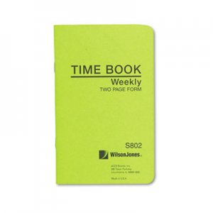 Wilson Jones S802 Foreman's Time Book, Week Ending, 4-1/8 x 6-3/4, 36-Page Book WLJS802