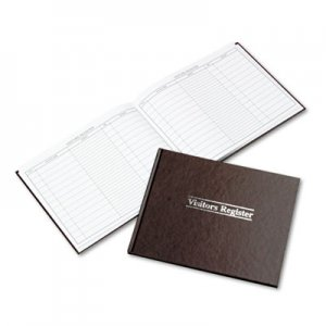Wilson Jones S490 Visitor Register Book, Red Hardcover, 112 Ruled Pages, 8 1/2 x 11 WLJS490