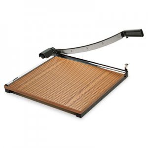 "X-ACTO 26618 Square Commercial Grade Wood Base Guillotine Trimmer, 15 Sheets, 18"" x 18 EPI26618"