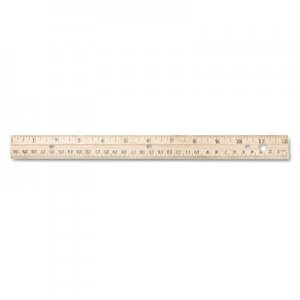 Westcott 10702 Hole Punched Wood Ruler English and Metric With Metal Edge, 12 ACM10702
