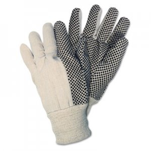 Memphis 8808 Dotted Canvas Gloves, White, 12 Pairs CRW8808