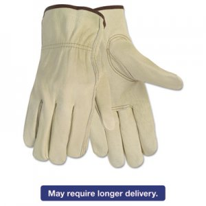 Memphis 3215M Economy Leather Driver Gloves, Medium, Beige, Pair CRW3215M