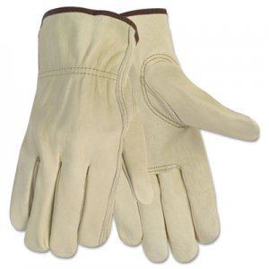 Memphis 3215L Economy Leather Driver Gloves, Large, Beige, Pair CRW3215L