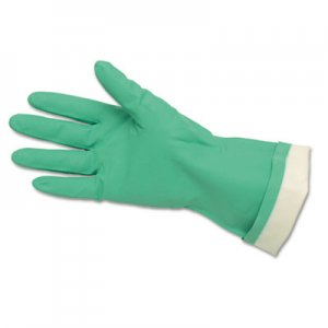 Memphis 5319E Flock-Lined Nitrile Gloves, Green, 12 Pairs CRW5319E