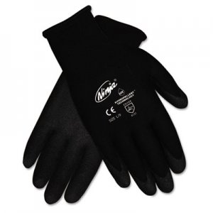 Memphis N9699S Ninja HPT PVC coated Nylon Gloves, Small, Black, Pair CRWN9699S