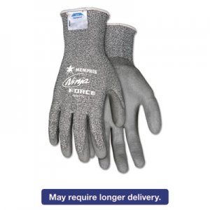 Memphis N9677S Ninja Force Polyurethane Coated Gloves, Small, Gray, Pair CRWN9677S