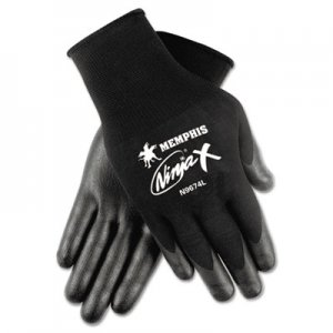 Memphis N9674S Ninja x Bi-Polymer Coated Gloves, Small, Black, Pair CRWN9674S