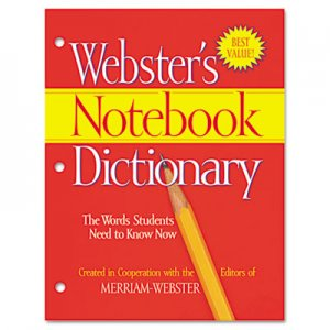 Merriam Webster FSP0566 Notebook Dictionary, Three Hole Punched, Paperback, 80 Pages MERFSP0566