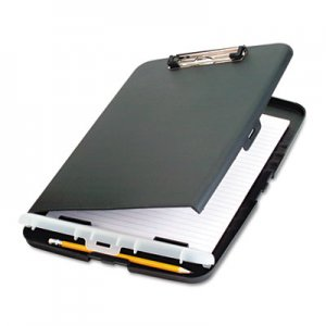 "Officemate 83303 Low Profile Storage Clipboard, 1/2"" Capacity, Holds 9w x 12h, Charcoal OIC83303"