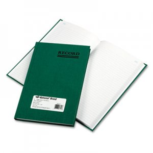 National RED56521 Emerald Series Account Book, Green Cover, 200 Pages, 9 5/8 x 6 1/4