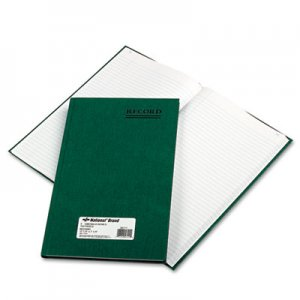 National 56111 Emerald Series Account Book, Green Cover, 150 Pages, 12 1/4 x 7 1/4 RED56111