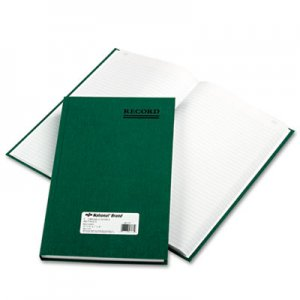 National RED56131 Emerald Series Account Book, Green Cover, 300 Pages, 12 1/4 x 7 1/4