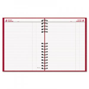 Brownline REDC550CRED CoilPRO Daily Planner, Ruled, 1 Page/Day, 7-7/8 x 10, Red, 2016 C550C-RED