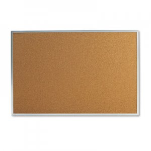 Genpak UNV43613 Bulletin Board, Natural Cork, 36 x 24, Satin-Finished Aluminum Frame