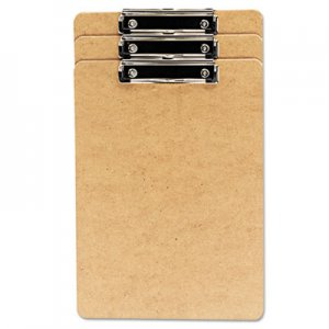 "Genpak UNV05563 Hardboard Clipboard, 1/2"" Capacity, Holds 8 1/2w x 14h, Brown, 3/Pack"