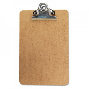 "Genpak UNV05610 Hardboard Clipboard, 3/4"" Capacity, Holds 5w x 8h, Brown"