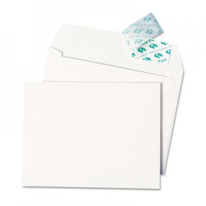 Quality Park™ 10740 Greeting Card/Invitation Envelope, Contemporary, Redi-Strip,#51/2, White,100/Box QUA10740