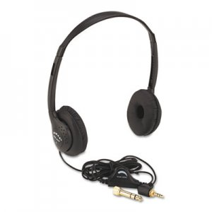 AmpliVox SL1006 Personal Multimedia Stereo Headphones with Volume Control, Black APLSL1006