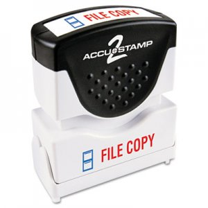 ACCUSTAMP2 COS035524 Pre-Inked Shutter Stamp with Microban, Red/Blue, FILE COPY, 1 5/8 x 1/2
