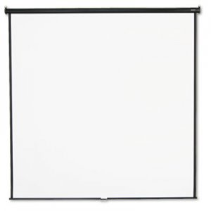 Quartet 696S Wall or Ceiling Projection Screen, 96 x 96, White Matte, Black Matte Casing QRT696S