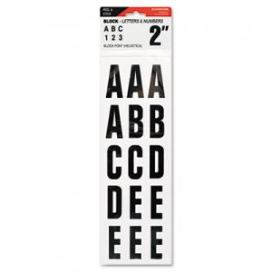 "COSCO COS098131 Letters, Numbers & Symbols, Adhesive, 2"", Black"