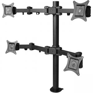 SIIG, Inc CE-MT0S12-S1 Articulating Quad Monitor Desk Mount