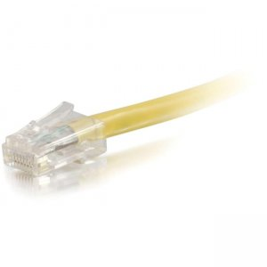 C2G 25039 35 ft Cat5e Non Booted UTP Unshielded Network Patch Cable - Yellow